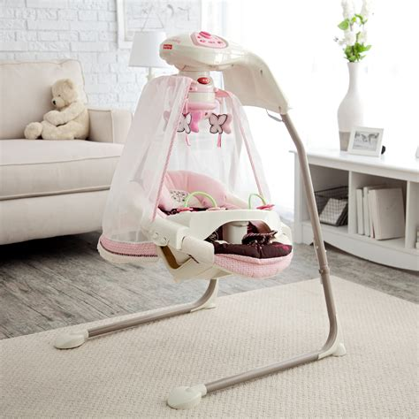 swing for baby girl fisher price butterfly cradle baby swing baby swings at