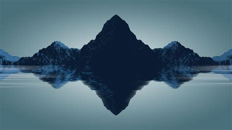 minimal backgrounds minimal mountains hd 4k wallpaper