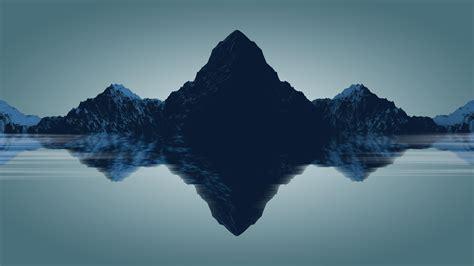 minimal mountains hd  wallpaper
