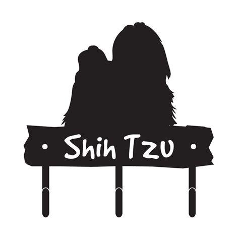 shih tzu silhouette shih tzu breed silhouette leash hook holder key rack