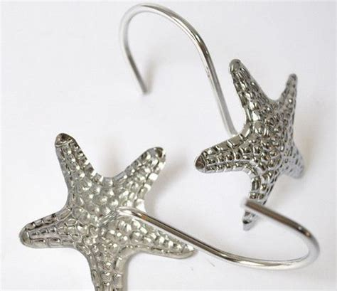 12 Pcs Modern Silver Starfish Decorative Metal Bling