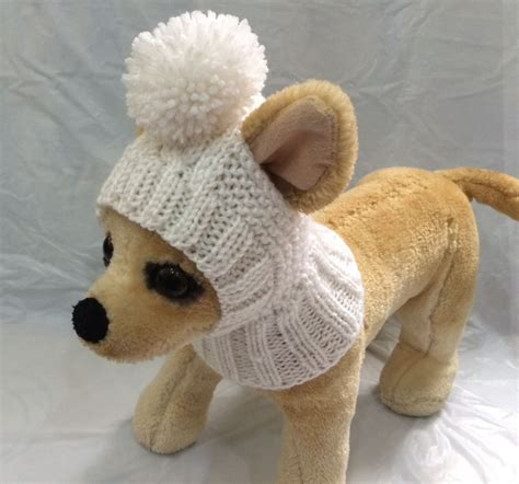 knitted hats for dogs pet clothes apparel handmade knit hoody snow hat
