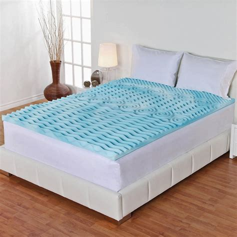 queen size bed topper 3 quot inch orthopedic queen size bed mattress topper gel foam
