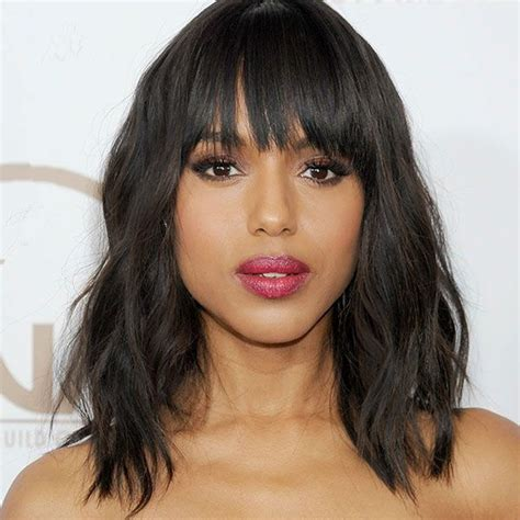 black celebrity with long straight wigs with bangs aliexpress com buy new 12inch 130density natural