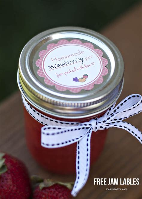 printable labels for homemade jam homemade strawberry jam free printable labels from