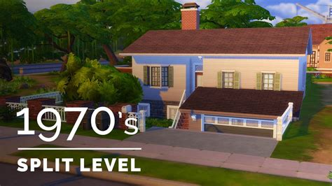 4 level split house sims 4 decade build series 1970s family split level