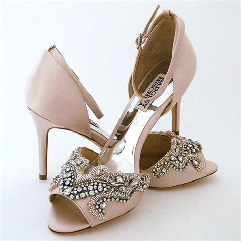 badgley mischka barker wedding shoes beaded shoes pink