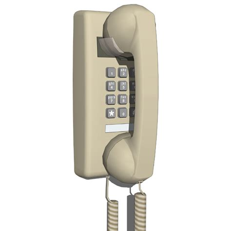 modern wall phone traditional wall phone 3d model formfonts 3d models