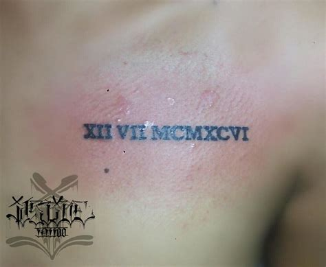 roman numeral tattoo on chest 45 unique roman numerals tattoo that speaks more than just