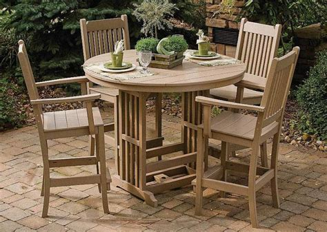 Patio Bar Height Table Bar Height Patio Table Today S Chic Trend In Outdoor