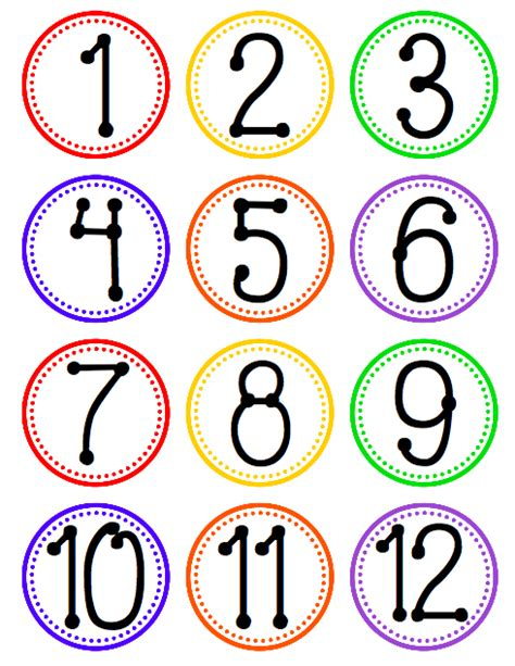 printable number label flapjack educational resources hanging fan labels for