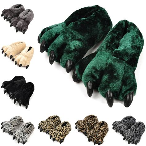 animal paw slippers aliexpress buy winter warm indoor cotton slippers