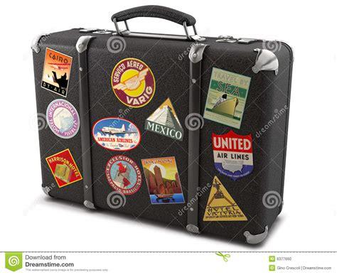 alter reisekoffer alter koffer stock abbildung bild leder weinlese