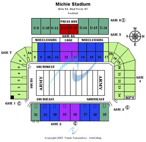 michie stadium seating chart cheap michie stadium tickets