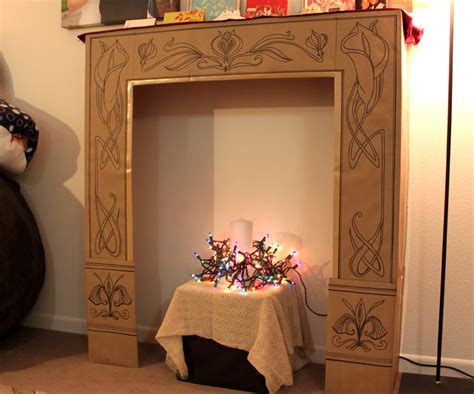 Diy Cardboard Faux Logs To Diy Fireplaces Are All The Trend Now Fireplace