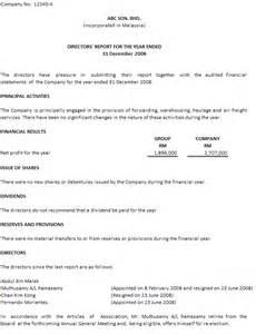 Sample Directors Report Sample Directors Report 19 October 2009 Accounting