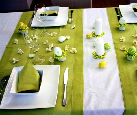 Purple And Yellow Table Decorations Spring Colors For The Easter Table Decoration Green And