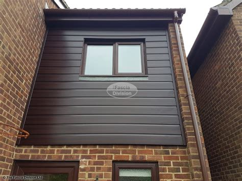 Upvc Shiplap Cladding Brown by Replacement Fascias Soffits Guttering And Cladding