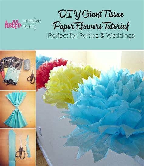 How To Make Big Paper Flowers With Tissue Paper - tutorial how to make diy tissue paper flowers