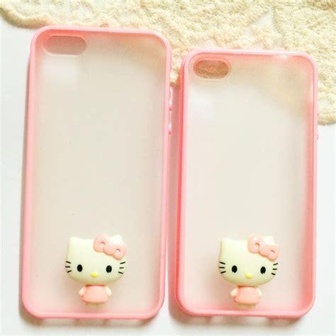 Iphone Handmade - pink transparent handmade phone iphone