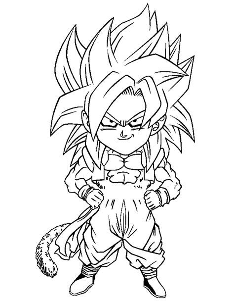 dragon ball z coloring pages super saiyans