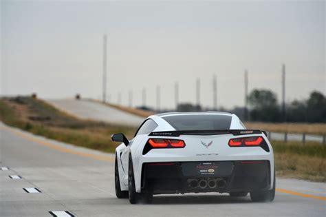 hennessey corvette breaks 200 mph on new toll road