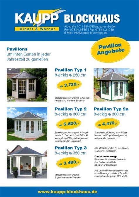 pavillon aktion startseite kaupp blockhaus