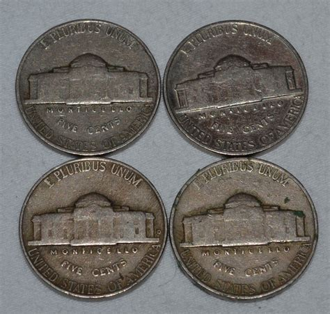 1939 1942 Set Of 4 1939 1942 Set Of 4 Jefferson U S American Nickels From Blackwidowvintiques On Ruby
