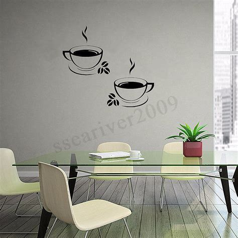 home decor decals coffee cups kitchen wall stickers vinyl decal