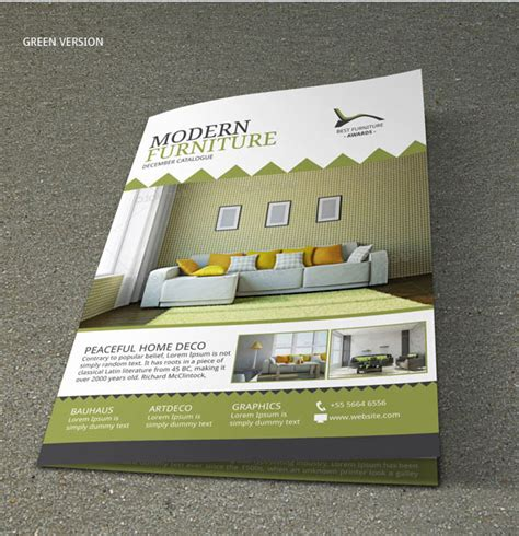 furniture store brochure design on behance