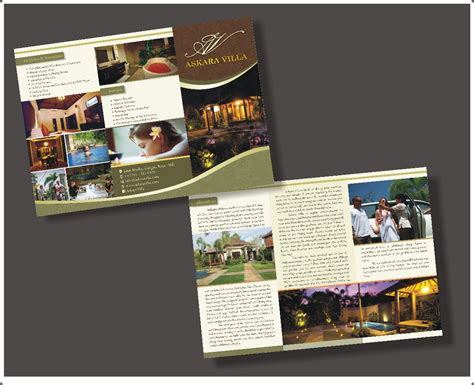Desain Brosur Villa | sribu flyer brochure design desain brosur askara villa ba