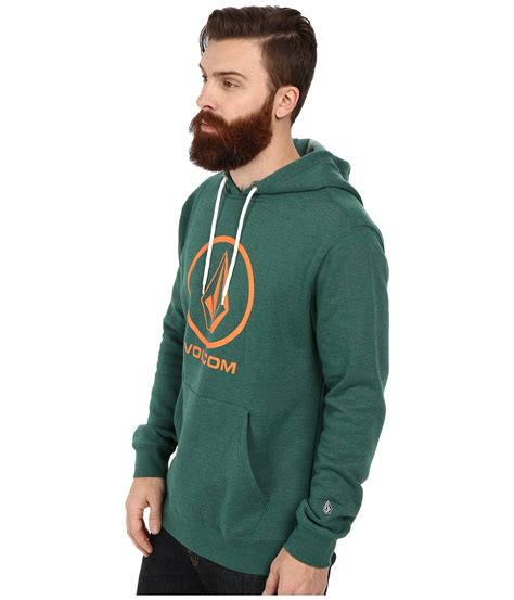 Hoodie Jaket Volcom Sweater Warung Kaos 1 volcom single pullover hoodie in green for grass green lyst