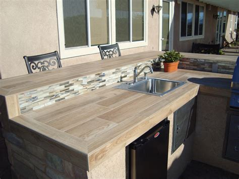 Outdoor Countertop Tile by Outdoor Tile Countertops Pictures To Pin On