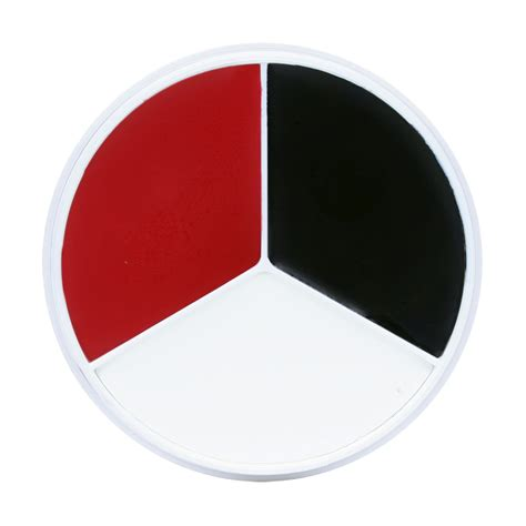 is black and white a color kryolan tri color wheel black white