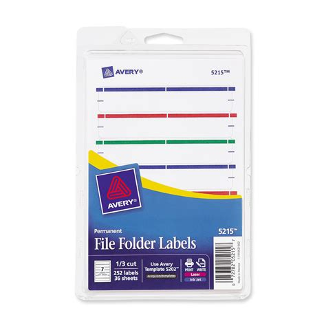 Avery File Folder Label Templates by Discount Ave05215 Avery 05215 Avery Print Or Write File
