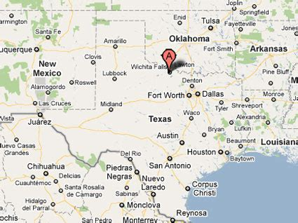 where is wichita falls texas on map sighting reports 2011