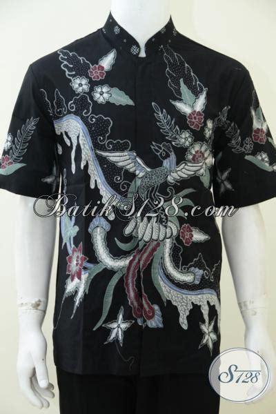 Koko Batik Elegan Mickot Hitam batik koko warna hitam elegan dengan motif burung untuk