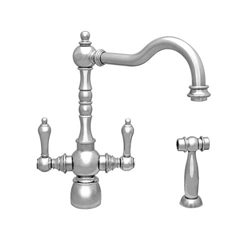 whitehaus kitchen faucet whitehaus collection vintage iii 2 handle standard kitchen