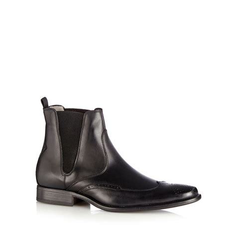 mens designer black boots j by jasper conran mens designer black leather brogue