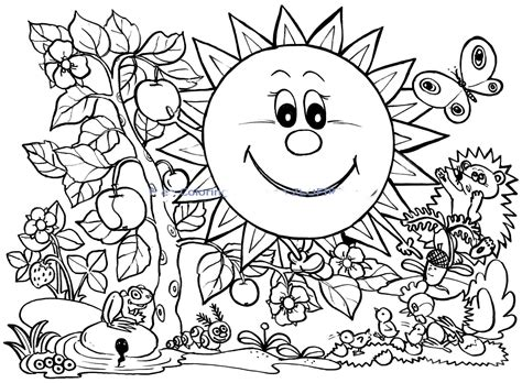 spring coloring sheets spring coloring pages 14 coloringpagehub