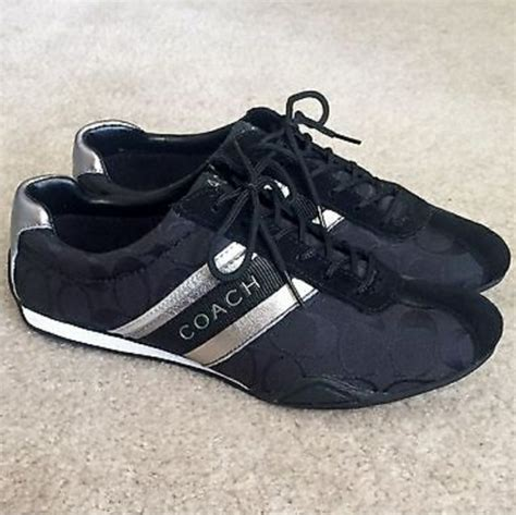 coach athletic shoes coach coach black signature jayme athletic sneakers from