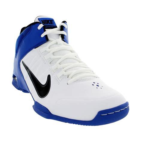 nike pro basketball shoes nike air visi pro iv mens basketball shoes white royal