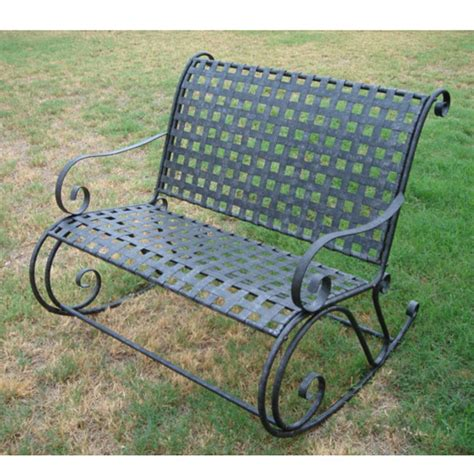 iron patio bench wrought iron patio bench outdoorlivingdecor