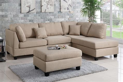 sectional and ottoman brown fabric sectional sofa and ottoman a sofa