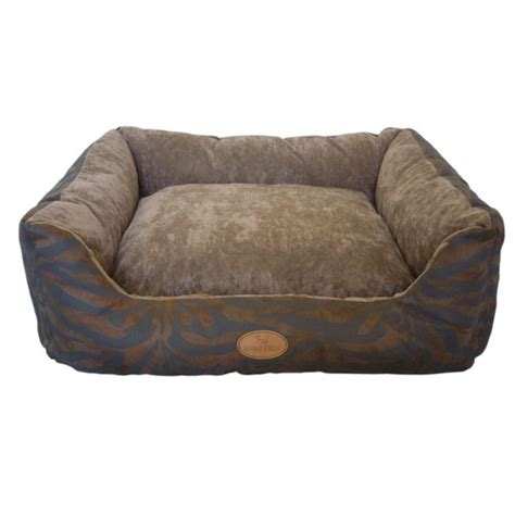 dog couch australia bono fido zebra suede pillow bed reviews temple webster