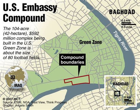 map of the united states embassy us orders partial evacuation of baghdad embassy as