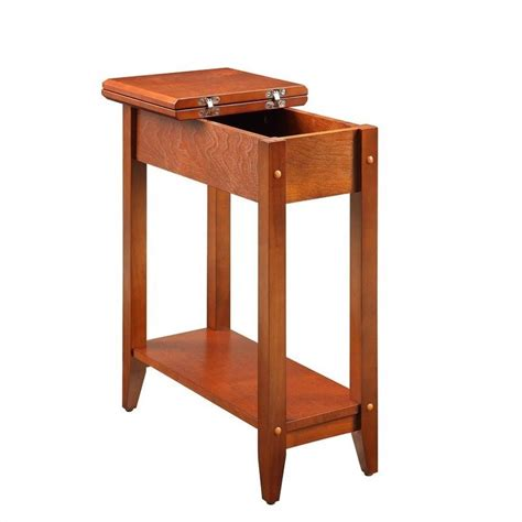 cherry end tables living room flip top end table cherry 7105059ch