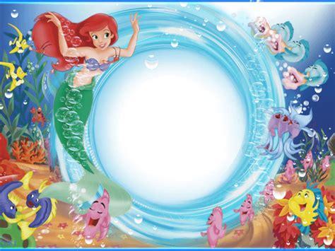 imagenes en png de la sirenita marco foto sirenita con recuadro circular descargar