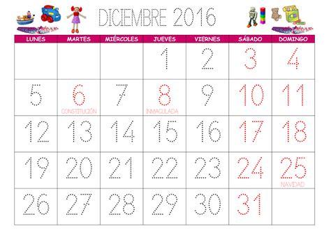 Calendario Noviembre Diciembre 2017 Calendario Diciembre 2016