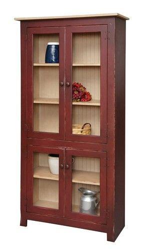 kitchen curio cabinets primitive curio cabinet hutch pantry bookcase country